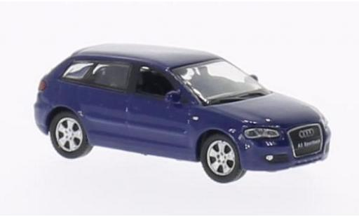Audi A3 1/87 Welly Sportback bleue miniature