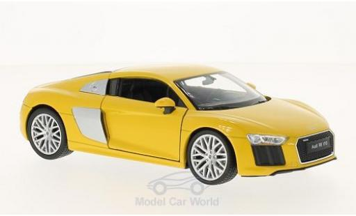 Audi R8 1/24 Welly V10 yellow diecast model cars
