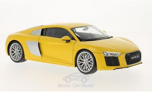 Audi R8 1/18 Welly V10 giallo 2016 miniatura