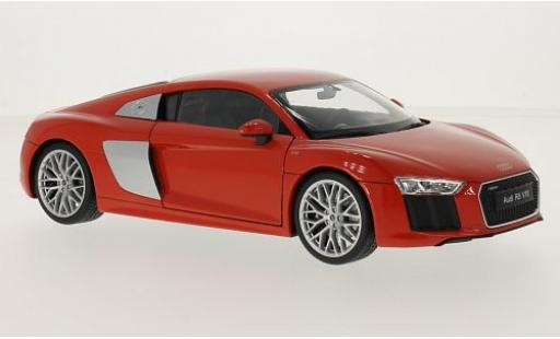 Audi R8 1/18 Welly V10 rouge 2016 miniature