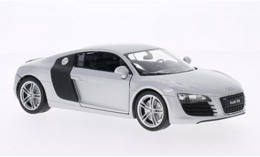 Audi R8 1/24 Welly V10 grigio/carbon modellino in miniatura