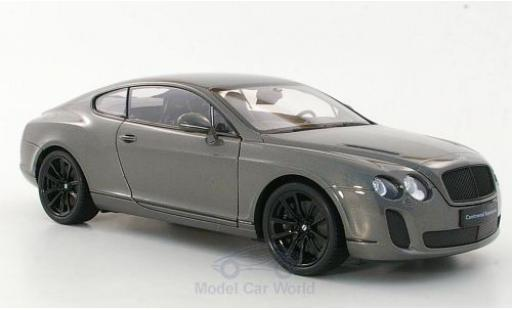 Bentley Continental T 1/18 Welly Supersports metallise grise miniature