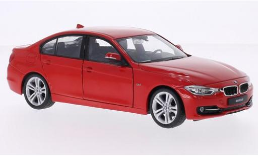 Bmw 335 1/24 Welly i (F30) red ohne Vitrine diecast model cars