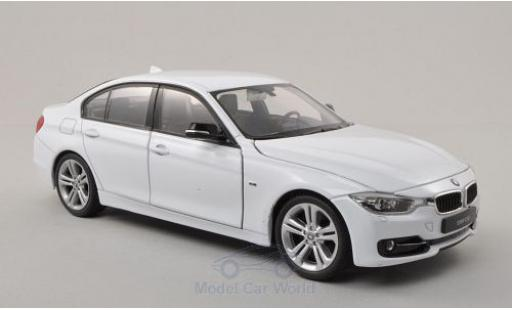 Bmw 335 1/24 Welly i (F30) white diecast model cars