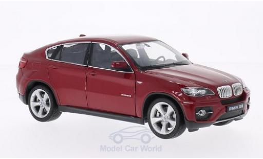Bmw X6 1/24 Welly metallise rouge miniature
