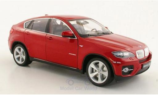 Bmw X6 1/18 Welly red diecast model cars