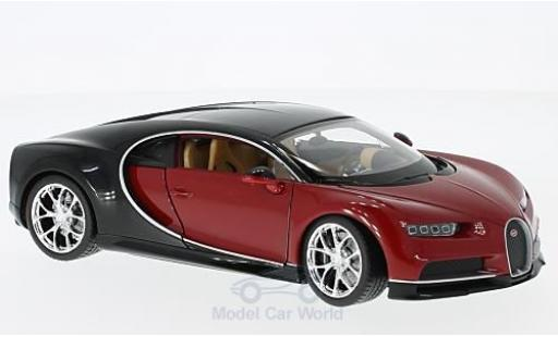 Bugatti Chiron 1/24 Welly rouge/noire 2016 miniature