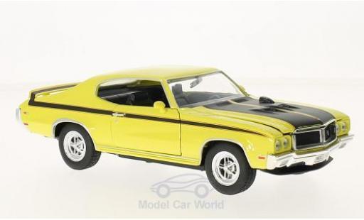 Buick GS 1/24 Welly X jaune/noire 1970 miniature