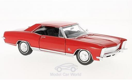 Buick Riviera 1/24 Welly Grand Sport rouge 1965 miniature