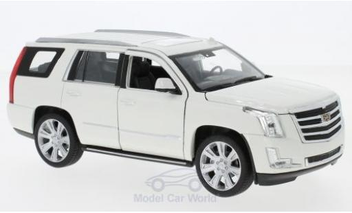 Cadillac Escalade 1/24 Welly blanche 2017 miniature