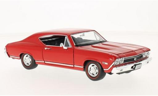 Chevrolet Chevelle 1/24 Welly SS 396 rouge 1968 miniature