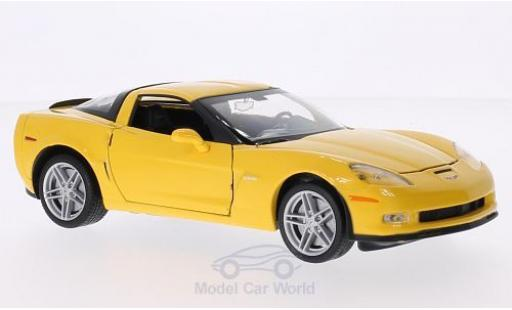Chevrolet Corvette C6 1/24 Welly giallo 2007 miniatura