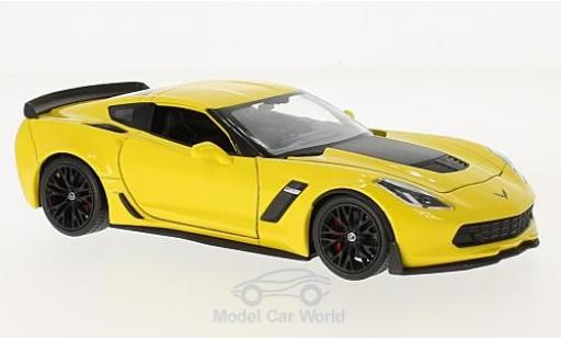 Chevrolet Corvette 1/24 Welly Z06 yellow 2017 diecast model cars