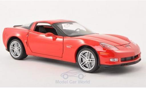 Chevrolet Corvette 1/24 Welly Z06 red 2007 diecast model cars
