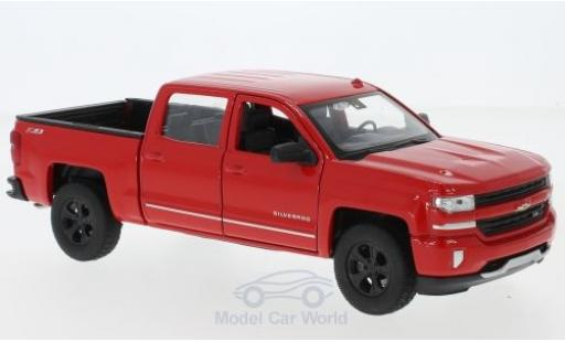 Chevrolet Silverado 1/24 Welly red 2017 diecast model cars