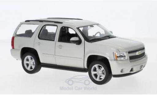 Chevrolet Tahoe 1/24 Welly metallise beige 2008 miniature