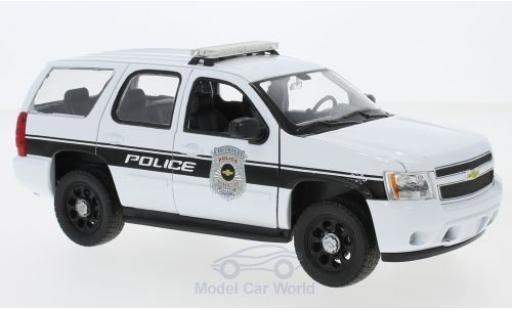 Chevrolet Tahoe 1/24 Welly blanche General Motors Police Vehicles 2008 miniature