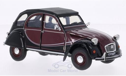 Citroen 2CV 1/24 Welly 6 Charleston rouge/noire miniature