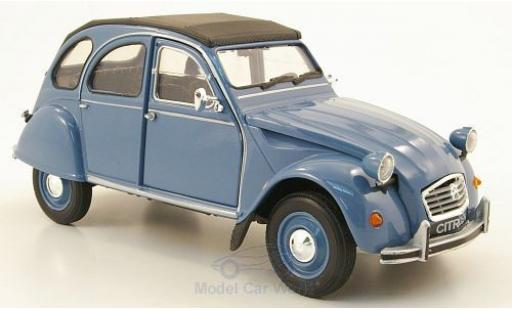 Citroen 2CV 1/24 Welly bleue ohne Vitrine miniature