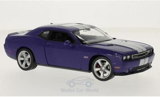 Dodge Challenger 1/24 Welly SRT lila/grise 2012 miniature