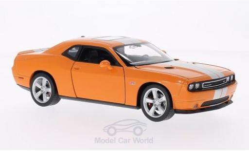 Dodge Challenger 1/24 Welly SRT orange/grise miniature