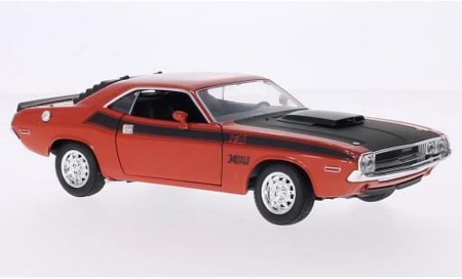 Dodge Challenger 1/24 Welly T/A orange/matt-noire 1970 miniature