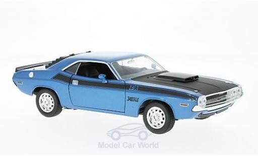 Dodge Challenger 1/24 Welly T/A metallise blue/black 1970 diecast model cars