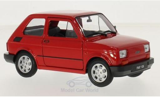 Fiat 126 1/24 Welly red diecast model cars