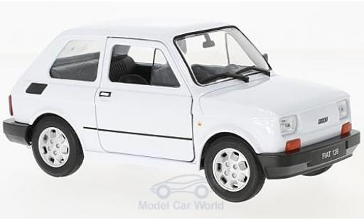 Fiat 126 1/24 Welly blanche miniature