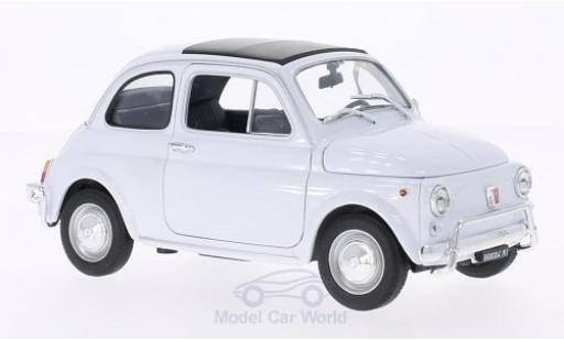 Fiat 500 1/18 Welly blanco 1957 miniatura