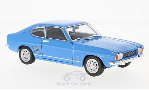 Ford Capri 1/24 Welly I 1600 GT XLR bleue 1969 miniature