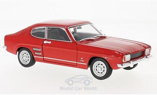 Ford Capri 1/24 Welly I 1600 GT XLR rouge 1969 miniature