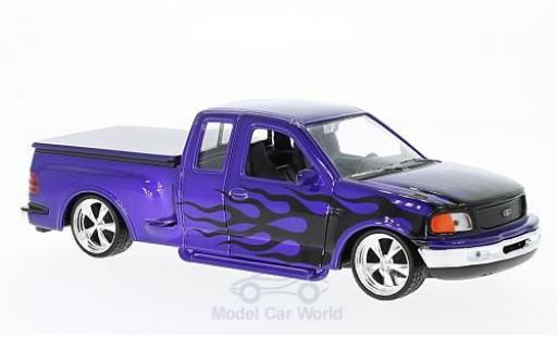 Ford F-1 1/24 Welly 50 Flareside Supercab Low Rider violette/Dekor 1999 miniature