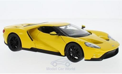 Ford GT 1/24 Welly jaune 2017 miniature