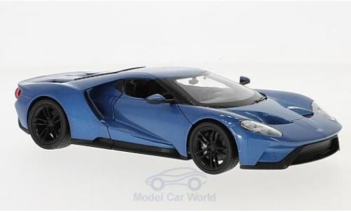 Ford GT 1/24 Welly metallic-bleue 2017 miniature