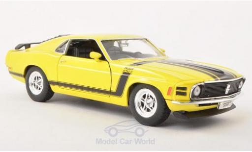 Ford Mustang 1/24 Welly Boss 302 jaune 1970 ohne Vitrine miniature