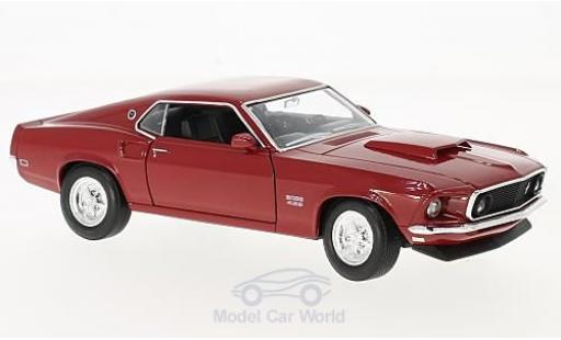 Ford Mustang 1/24 Welly Boss 429 rouge 1969 miniature