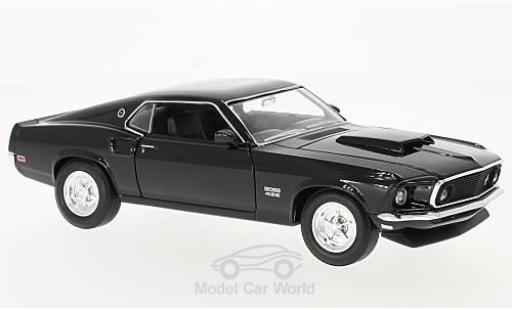 Ford Mustang 1969 1/24 Welly Boss 429 noire miniature