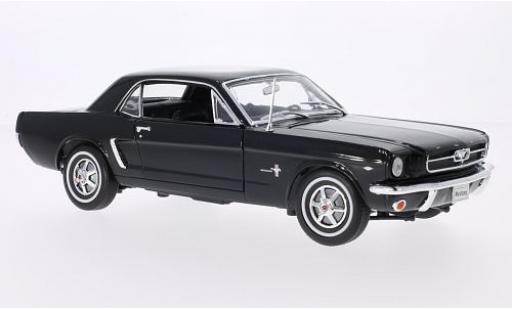 Ford Mustang 1/18 Welly Coupe noire 1964 miniature