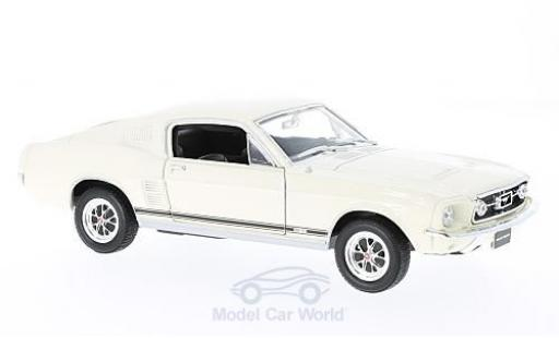Ford Mustang 1/24 Welly GT Fastback blanche 1967 miniature