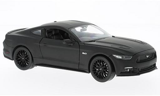 Ford Mustang 1/24 Welly GT matt-noire 2015 miniature