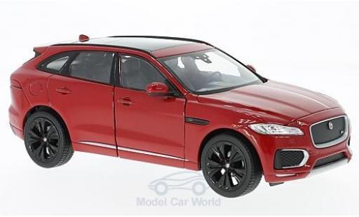 Jaguar F-Pace 1/24 Welly metallise rouge 2016 ohne Vitrine miniature