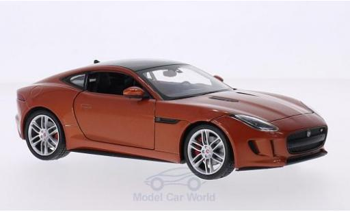 Jaguar F-Type 1/24 Welly Coupe kupfer/noire miniature