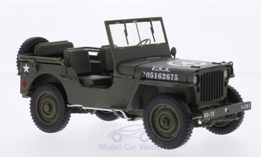 Jeep Willys 1/18 Welly matt-oliv U.S. Army offen miniature