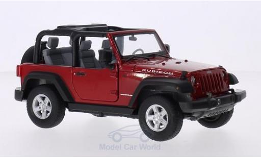 Jeep Wrangler 1/24 Welly rouge 2007 miniature