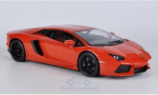 Lamborghini Aventador 1/18 Welly LP 700-4 orange ohne Vitrine diecast model cars