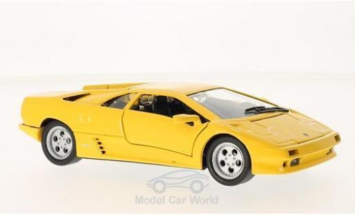 Lamborghini Diablo 1/24 Welly jaune 1998 ohne Vitrine miniature