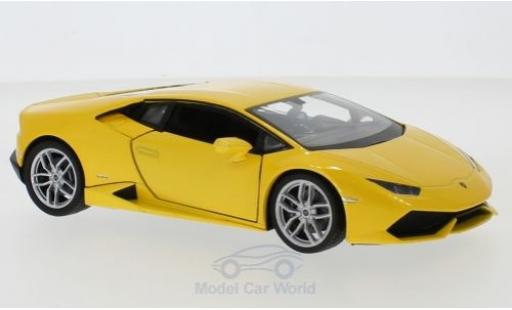 Lamborghini Huracan 1/24 Welly LP 610-4 metallic yellow diecast