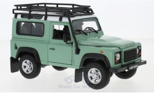 Land Rover Defender 1/24 Welly verte/blanche mit Dachgepäckträger miniature