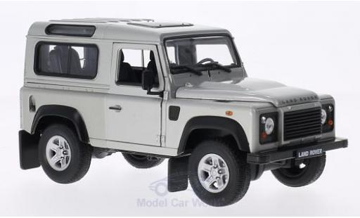 Land Rover Defender 1/24 Welly grise miniature